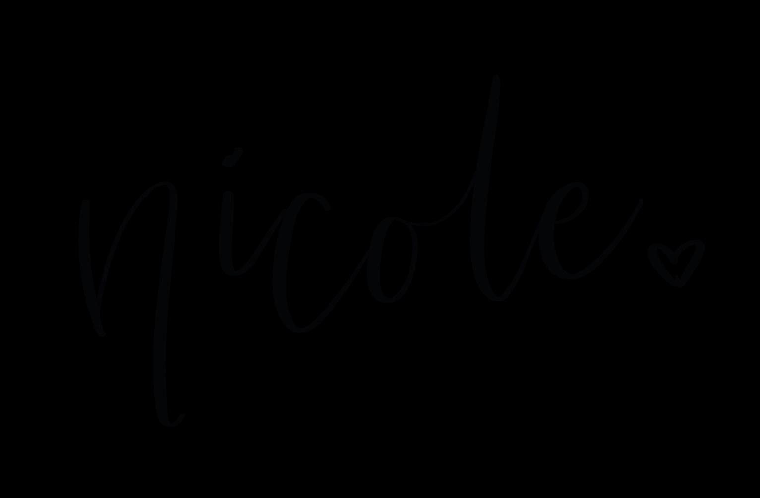 Signed Nicole